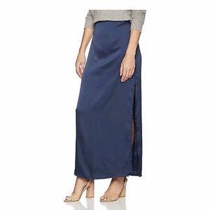 NWT Halston Heritage Women's Satin Maxi Skirt